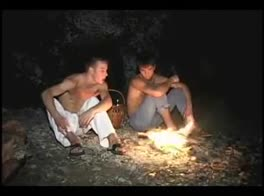 2 teens barebacking at the camp fire